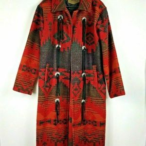 Vintage Woolrich Navajo Blanket Coat and Hood
